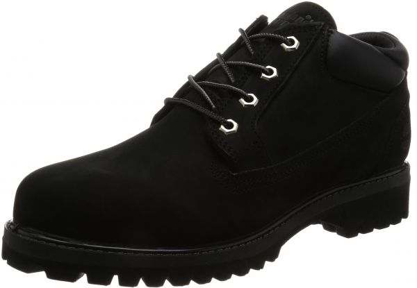 Timberland Men's Icon Premium Waterproof Oxford, Black Full Grain, 9 C US