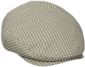 72e410474d0 Henschel Men s New Shape Checked Pattern Ivy Hat with Cotton Lining