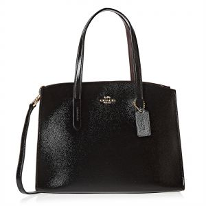 Coach Crossgrain Patent Leather Charlie Carryall