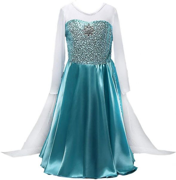Girls Snow Queen Elsa Party Dress Costume Princess Cosplay Dress Up