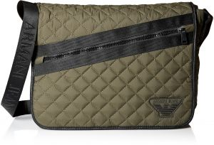 c72abfa5f1bb Armani Jeans Men s Quilted Fabric Messenger Bag