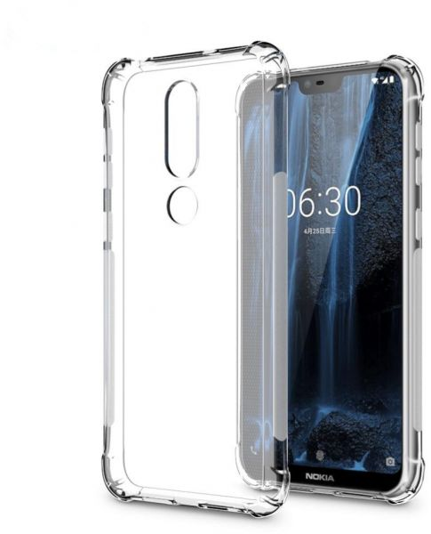 promo code cd2d4 83f0a Nokia 6.1 Plus Case, Crystal Clear Anti-Crack Back cover | KSA | Souq