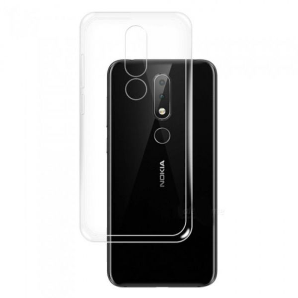 brand new 72984 8d01b Nokia 6.1 Plus (Nokia X6) Silicone TPU Case Cover Soft - Clear