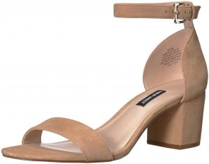 united states 50% price best place Nine West Women's Frostbite Suede Heeled Sandal, Light Natural Suede, 10  Medium US