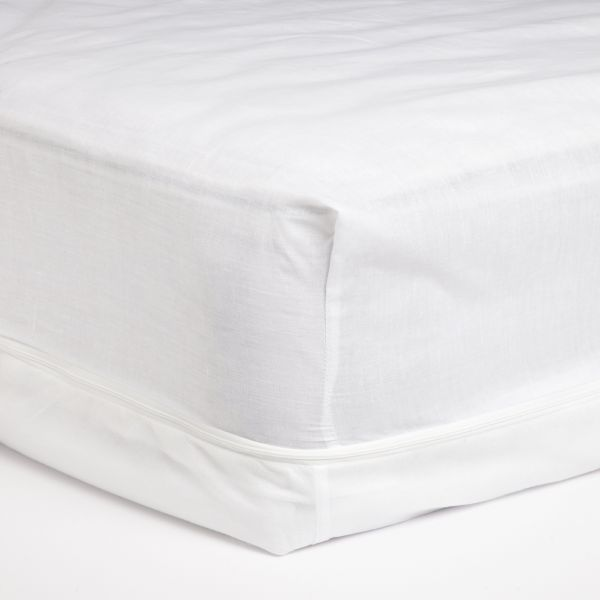 Adorable Poly Cotton Zippered Mattress Cover Queen Souq Uae