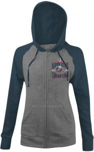 NFL New England Patriots Adult Women NFL Ladies Super Bowl Tri-Blend Fleece  Hoody with Contrast Sleeves f6703dac4