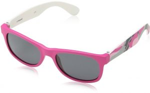 ce2687988bfe6f Polaroid Sunglasses Kids  P0300s Polarized Wayfarer Sunglasses, Fuschia  Camouflage Gray Polarized, 42 mm