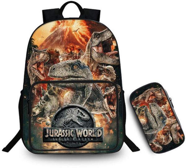 d56e879f14 Jurassic Park large-capacity computer backpack combination two-piece ...