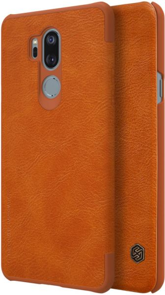 buy online 19791 701ae Nillkin Qin Flip Leather Case For LG G7 ThinQ, Brown