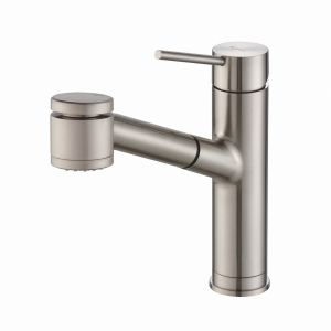 Stainless Steel, Hombd|#Homewerks 90-KVDCSS-AD-Z Homewerks single Handle Industrial Style Kitchen Faucet with Pull-Down SPRAYER