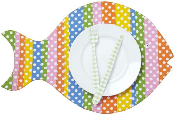 Twos Company Cupcakes Cartwheels Go Fish Placemat