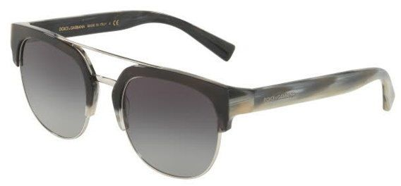 4759dc88cd90 Dolce & Gabbana Half Frame Sunglasses For Men - Grey, 4317, 53, 3157, 8G