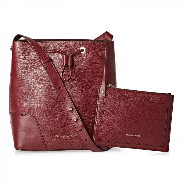 Michael Kors Handbag Set For Women Burgundy