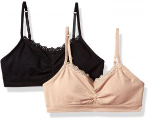 0c70fb6c55 Fruit of the Loom Big Girls  Seamless Bralette with Lace(Pack of 2)