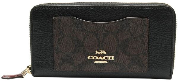 8a909fcd56de4 Coach Accordion Zip Wallet In Signature Canvas Colorblock F31612. by Coach