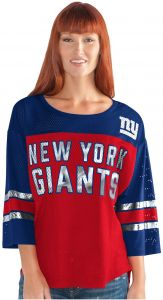 bc9ddd30d GIII For Her NFL New York Giants Adult Women First Team Mesh Top