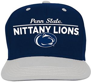 half off 8e446 589e2 NCAA Penn State Nittany Lions Youth Boys Retro Bar Script Flatbrim Snapback  Hat, Dark Navy, Youth One Size