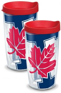 Clear Tervis 1094332 Houston Cougars Colossal Tumbler with Wrap and Red Lid 2 Pack 16oz