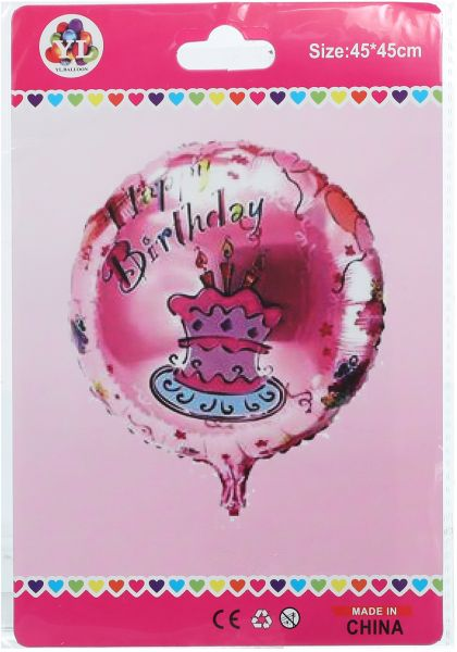 Pink Helium Birthday Balloon