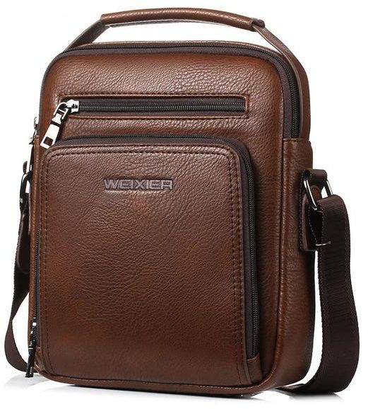 c7020aff5385 WEIXIER Grown Casual Men Travel Business Crossbody Bags Pu Leather  Messenger Bag Designer Men Handbag Top Quality Male Shoulder Bag