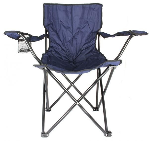 Y&D Folding Chair PVC Material Foldable Metal Legs For Camping, Outdoor Garden, Beach & Picnic Chair Dark Blue Color