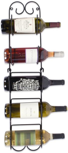 Home Traditions Z01662 Wall Mounted Wine Rack Holds Up To 6 Bottles