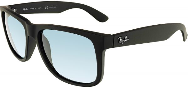 feacfc174 Ray-Ban Men's Polarized Justin RB4165-622/2V-54 Black Square Sunglasses