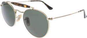 a7855a17ea Ray-Ban Polarized RB3747-001-50 Gold Round Sunglasses