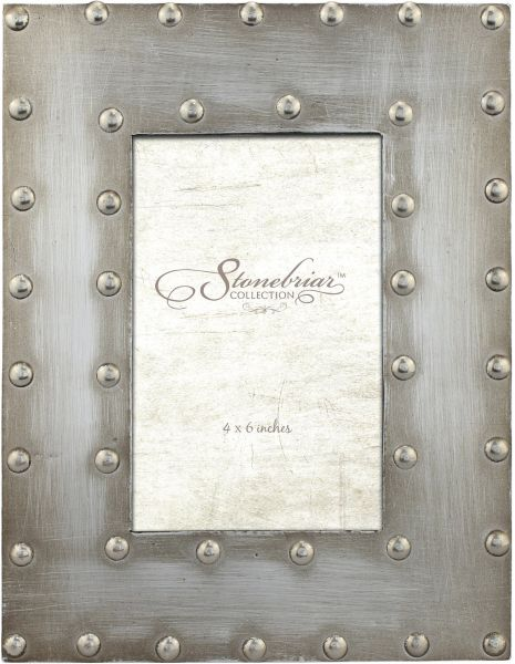 Stonebriar Industrial Distressed Metal Photo Frame With Rivet Detail