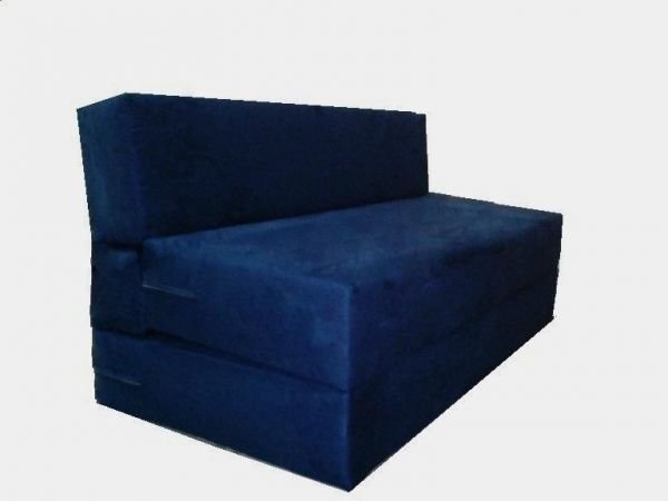 Fold Out Sofa Bed Zen Two Seater Upholstered Folding Sleeper Chair Foam Foldable Studio Couch Guest Size 90 X