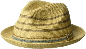 aa0302e7 Bailey of Hollywood Men's Lichter Braided Stripe Fedora Hat, Natural, XL