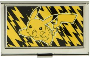 bb7d134a082 Buckle-Down Business Card Holder - Pikachu Electric Tackle Yellow Black -  Small