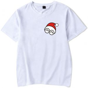6d46252a9d01 Stylish simple cotton Christmas T-shirt for men and women ,short sleeve  round neck ,white