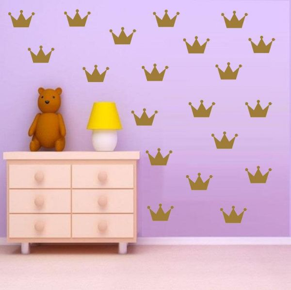 gold crowns wall decals wall stickers | souq - uae
