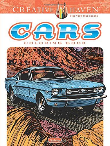 Creative Haven Cars Coloring Book (Adult Coloring)   Souq - UAE