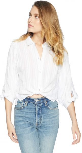 ea9b44a2 BCBGeneration Women's 80s Sleeve Oversized Button Down, Optic White, L. by  BCBGeneration, Tops - Be the first to rate this product