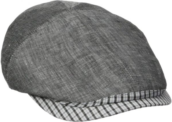 Henschel Men s Duckbill Ivy Hat with Plaid Visor and Elastic Back ... ffc5e74872f