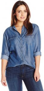 83bc305ead40e Tart Collections Women s Plus-Size Dixie Pocket Chambray Button Down Shirt