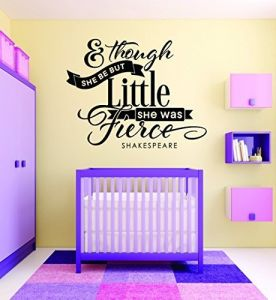Teen Baby Girl Bedroom Quote Wall Decal Pink Design with Vinyl RAD 733 1 She Leaves A Little Sparkle Wherever She Goes.. 12 x 18 12 x 18