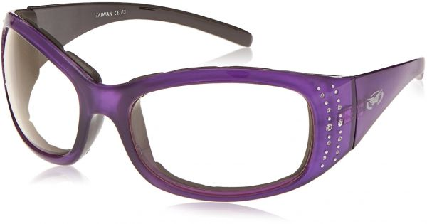 fc4defbae2 Global Vision Eyewear Marilyn 2 24 Plus Series Sunglasses Crystal  Reflection Purple Frame Clear Photochromatic Lenses