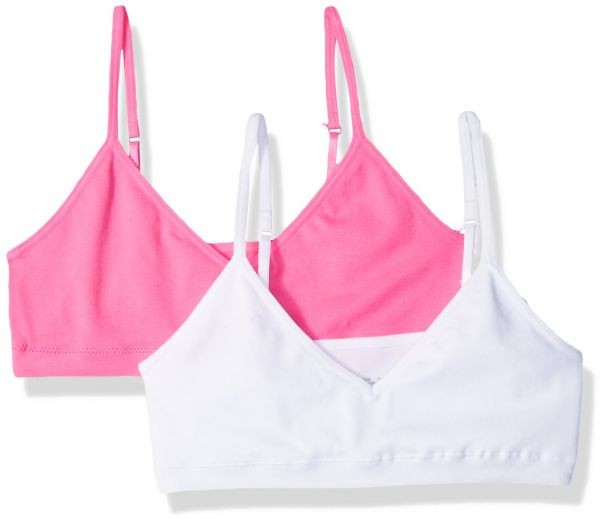 3228c6c49d3b3 Hanes Big Girls  ComfortFlex Seamless Bralette 2-Pack