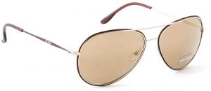876382d61c Police Aviator Unisex Sunglasses for Mens Lens Color Gold and Metal Frame  color Brown Size 58x15x140