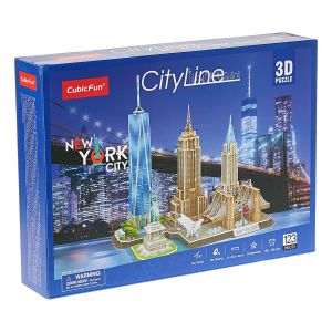 Cubic Fun City Line New York City 3D Puzzle - 3 Years and Above