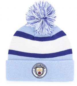 50e4c6076566c OTS EPL Manchester City Rush Down Cuff Knit Cap with Pom