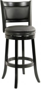 Pleasing Boraam 45829 Augusta Bar Height Swivel Stool 29 Inch Black Gmtry Best Dining Table And Chair Ideas Images Gmtryco