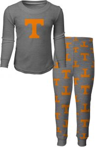 new arrival b3e83 82af0 NCAA by Outerstuff NCAA Tennessee Volunteers Toddler Long Sleeve Tee   Pant  Sleep Set, Heather Grey, 2T