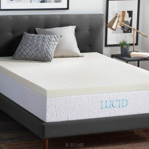add95405e5d LUCID 3 Inch Ventilated Memory Foam Mattress Topper 3-Year Warranty - Queen