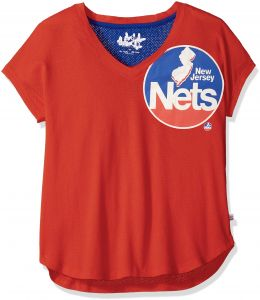big sale 75600 aece9 Touch by Alyssa Milano NBA New Jersey Nets Women s First Down Tee, X-Large,  Red