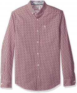 27783ce9f2b7 Original Penguin Men s Long Sleeve Mini Gingham with Dobby