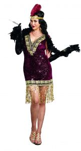 3dfab9e24 Dreamgirl Women s Plus-Size Sophisticated Lady 1920s Flapper Party Costume